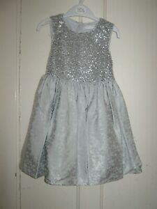 GIRLS SEQUIN PARTY/PROM DRESS SILVER 3-4 YEARS OCCASION WEAR NEW BNWT GIFT PRESE