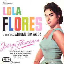 LOLA FLORES Antonio Gonzalez Juerga Flamenca SP Press Seeco 17.177 EP