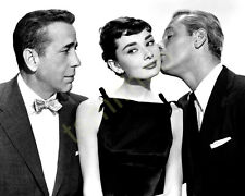 Audrey Hepburn with William Holden and Humphrey Bogart 8x10 Photo 143