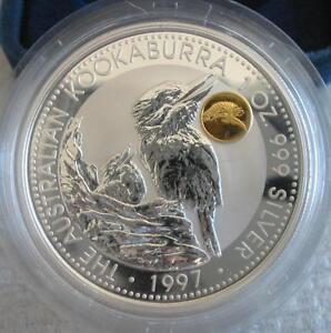 AUSTRALIA $1 1997 Silver Proof Kookaburra Phoenix Privy Mark