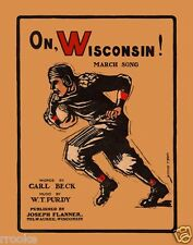 ON WISCONSIN! Digitally Remastered Sheet Music Cover Art Fine Art Print / Poster
