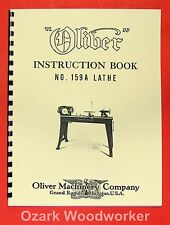 Oliver 1940s 159 A 12 Wood Lathe Operator And Parts Manual 159a 0974