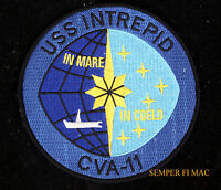 "USS INTREPID CVA-11 4 1/2"" US NAVY HAT PATCH CVS CV FIGHTING I MUSEUM NY VIETNAM"
