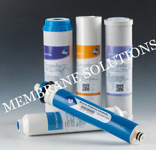 New 5 Stage Reverse Osmosis Replacement Water Filter Kit with 50GPD RO Membrane
