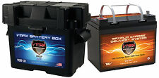 VMAX857 + U1 BOX 35AH AGM Battery for Minn Kota 12V-45lb Trolling Motor