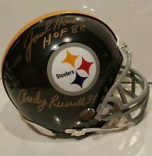 Andy Russell and Jack Ham signed Steelers mini-helmet  TSE COA