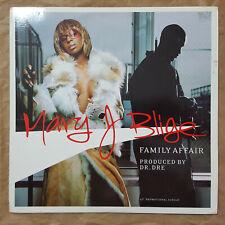 """MARY J BLIGE """"FAMILY AFFAIR"""" RARE PROMO 12"""" VINYL / DR. DREE"""