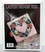 "National Yarn Crafts LATCH HOOK KIT Heart Wreath P435 12"" x 12"""