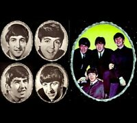"Beatles 1964 Vintage Pinup Portrait Set of 5 7x9"" John Paul George Ringo NM COA"