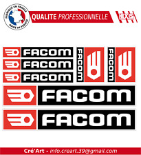 lot 7 Stickers autocollant Facom bricolage adhésif planche sponsor tuning outils