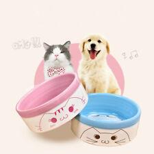 Pet Dog Cat Ceramic Bowl Puppy Non-slip Smooth Dish Anti-skid Food Water Feeder