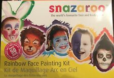 Snazaroo Rainbow Face Painting Kit - 8 Colours Sponge Brush Up To 50 Faces