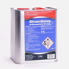 3 Liter Nitroverdünnung Verdünnung von Recolor für Autolack /NC3000