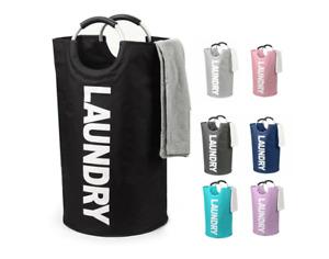 Folding Laundry Basket Bag Washing Fabric Collapsible Storage Hamper