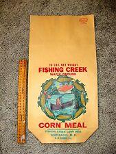 Vintage New Old Stock Fishing Creek Corn Meal Bag- Whitakers, NC GW Garris Prop.