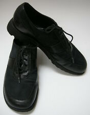 Munro American Shoes Black Lace Up Leather Suede Womens Size 6 1/2 M
