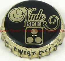 "1980s NUDE BEER ""Hecho En Mexico"" plastic-backed crown"