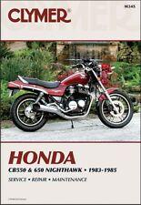1983-1985 Honda CB550 CB650 CB 550 650 Nighthawk CLYMER REPAIR MANUAL M345