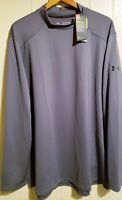 Under Armour Coldgear Reactor Long Sleeve Fitted BaseLayer 3XL NEW Gray