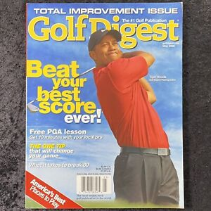 Golf Digest Magazine Total Improvement Issue May 2006 Tiger Woods Best Score