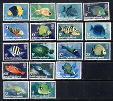 British Virgin Islands Beautiful 1975 tropical fish set mnh vf complete 30.75