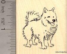 American Eskimo Dog Rubber Stamp H14006 WM