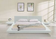 Fujian Modern Platform Bed 2 Night Stands Queen (Glossy White) By Matisseco