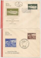 2 COVERS AUTRICHE AUSTRIA 1955 and 1957.  L658