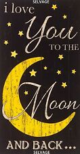 I Love You To The Moon & Back Panel 24x44 Cotton Quilt Fabric Timeless Treasures