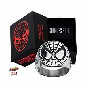 Spider-Man Face - Stainless Steel Officially Licensed  Quality Ring, Size - 12