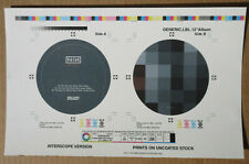 """NINE INCH NAILS Day The World Went Away 1999 12"""" Labels ARTWORK Proof #1 REZNOR"""