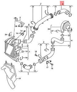 Genuine VW SKODA SEAT Polo Derby Vento-IND Pressure Hose 6Q0145838L
