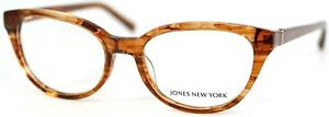 JONES NEW YORK J760 Brown Cat Eye Womens Full Rim Eyeglasses 53-18-140