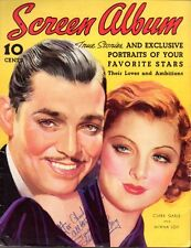 MYRNA LOY: Vintage Original Fall 1937 SCREEN ALBUM Magazine: Color Autographed