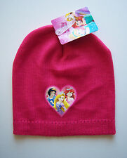 DISNEY PRINCESS Knitted Beanie Winter Hat Pink  3-6 years