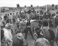 THE FRISCO KID orig 1979 on the set publicity photo GENE WILDER/ROBERT ALDRICH