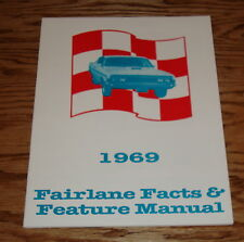 1969 Ford Fairlane Facts Feature 69 Brochure Manual