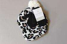 Carter's Baby Knit Cheetah Hat & Mitten Set - 6-18 Months - Black Leopard