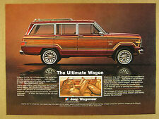 1981 AMC Jeep Wagoneer Limited color photo vintage print Ad