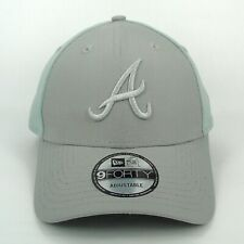 New Era Cap Men's Atlanta Braves MLB Team Grey Tonal Panels Snapback Hat