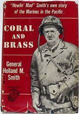 General Holland 'Howlin Mad' Smith WW II Marine Commander Signed Book ''Rare''