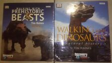 NEW Walking with Dinosaurs & Walking with Prehistoric Beasts by Tim Haines 2 Lot