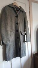 Topshop Tweed Coat Black & White Size UK 10 Blogger Smart Street Style