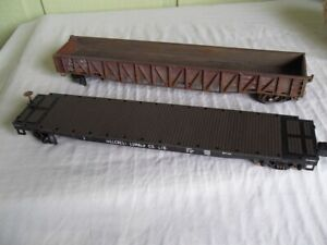 Weaver DROP END GONDOLA  and  FLAT CAR  Lionel, MTH  1/48 O Scale