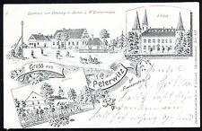 Litho / Lithographie : PETERWITZ (Stoszowice in Schlesien / Oberschlesien)