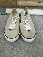 Marks and Spencer Beige Ladies Flat Canvas Sneaker Shoes Size UK 7