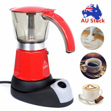 300ml 6 Cups Electric Mocha Moka Pot Italian Percolator Stovetop Coffee Maker AU