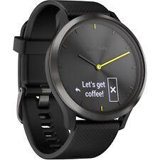 Garmin Vivomove HR Hybrid Smartwatch Sport Black Large