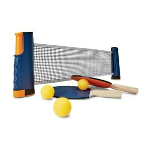 Table Tennis Net and Post Set with Extendable Mini Posts Portable Bats Balls