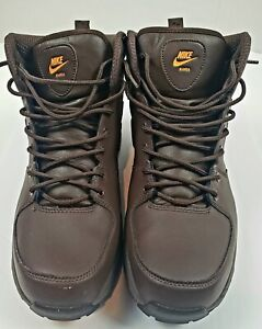 Nike Boots Mens MANOA Brown Boots Walking Hiking Leather Riding Size 12